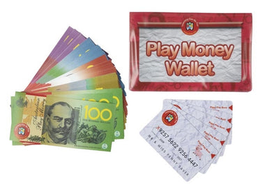 Learning Can Be Fun Play Money Includes Wallet, Notes & Credit Cards