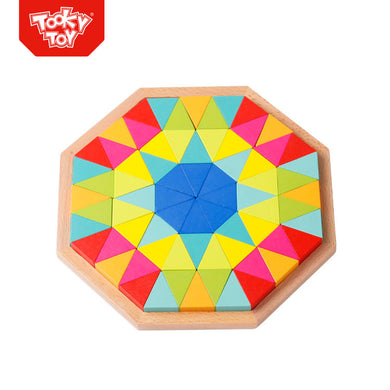 Tooky Toy - 73 Pcs Wooden Octagon Puzzle