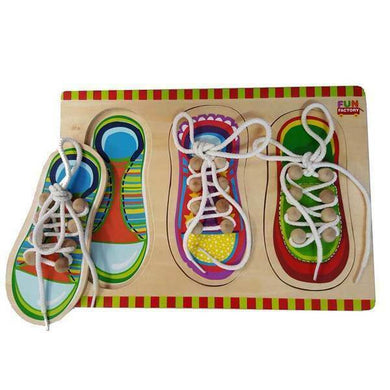 Fun Factory - Wooden Lacing Shoes Puzzle