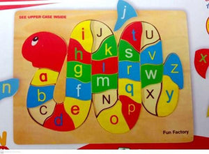 Fun Factory - Raised Wooden Puzzle Lower Alphabet -Snake