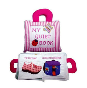 My Quiet Activity Cloth Book - Stripe PINK
