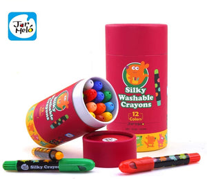 Jar Melo Silky Washable Twistable Crayons - 12 Colours