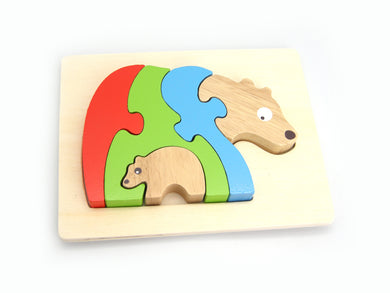 Kaper Kidz - Stacking Jigsaw Puzzle - Bear and Baby