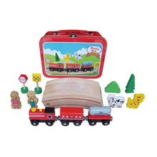 Wooden TRAIN Set in Carry Case