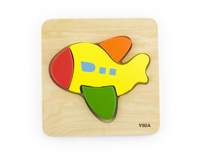 Wooden Shape Block Puzzle - Plane