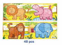 Viga Toys - Wooden Jigsaw Animal Puzzle 4 in 1 Jungle
