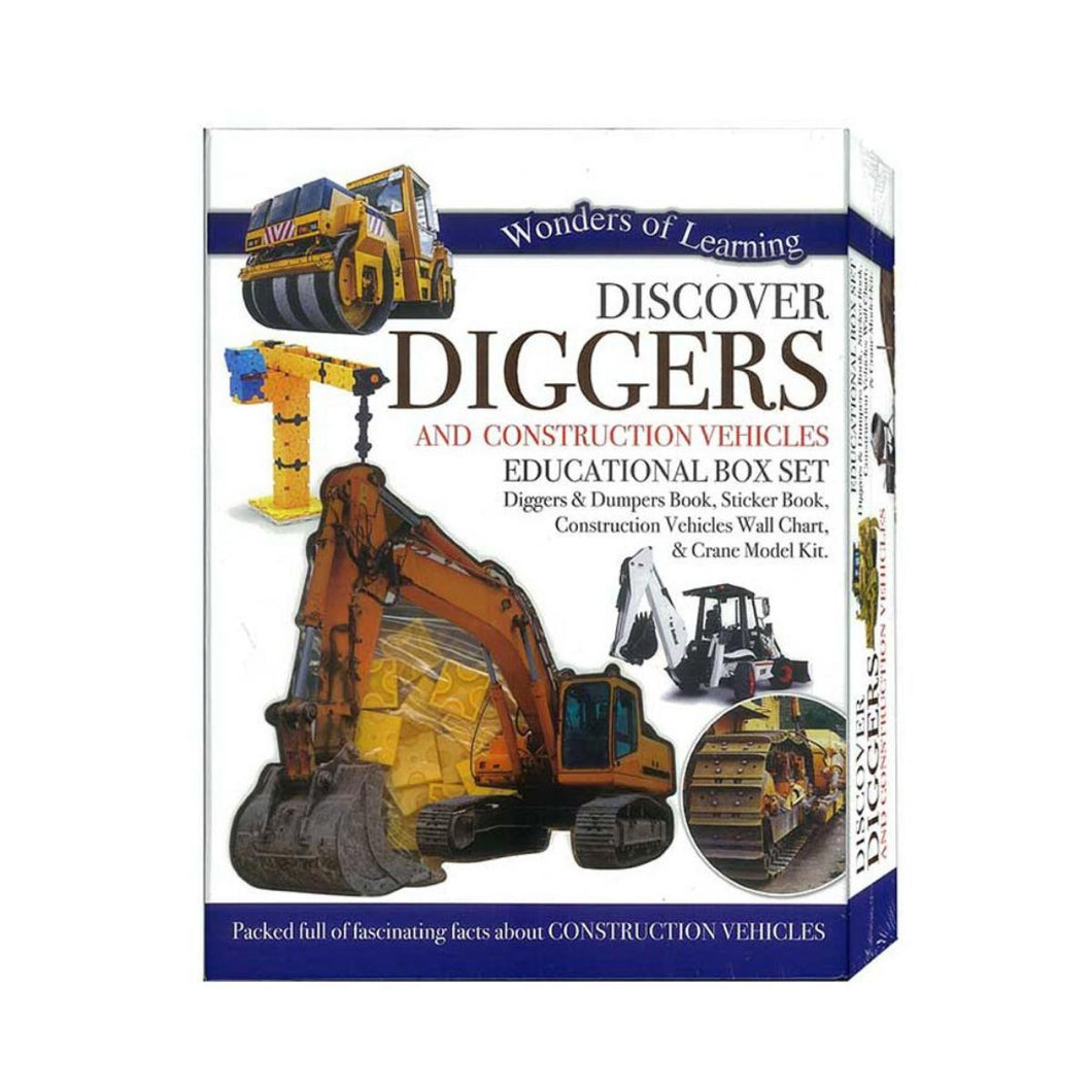Wonders of Learning - Discover Diggers and Construction Vehicles Box Set