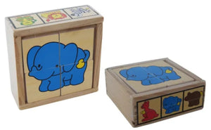 Elka - Wooden Zoo Puzzle in a box