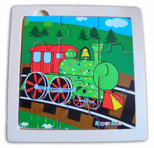 Kaper Kidz - 9 Pcs Wooden TRAIN Jigsaw Puzzle
