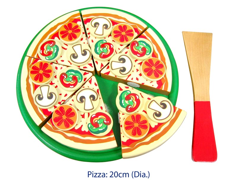 Viga - Wooden Pizza with topping (20cm D)