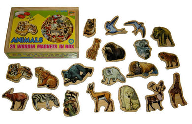 20 Pcs Magnetic Animals in Wooden Box