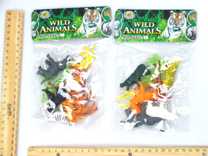 12 Pcs Mini Plastic Animals - WILD