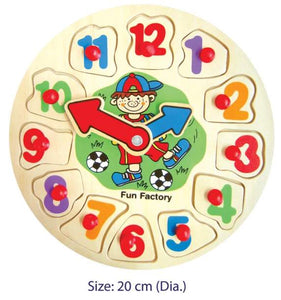 Fun Factory - Wooden Puzzle Clock - Boy