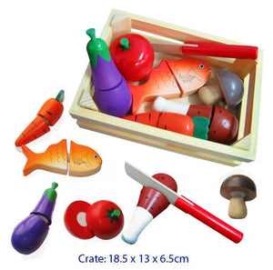 Fun Factory - Wooden Cutting Food Crate with Knife