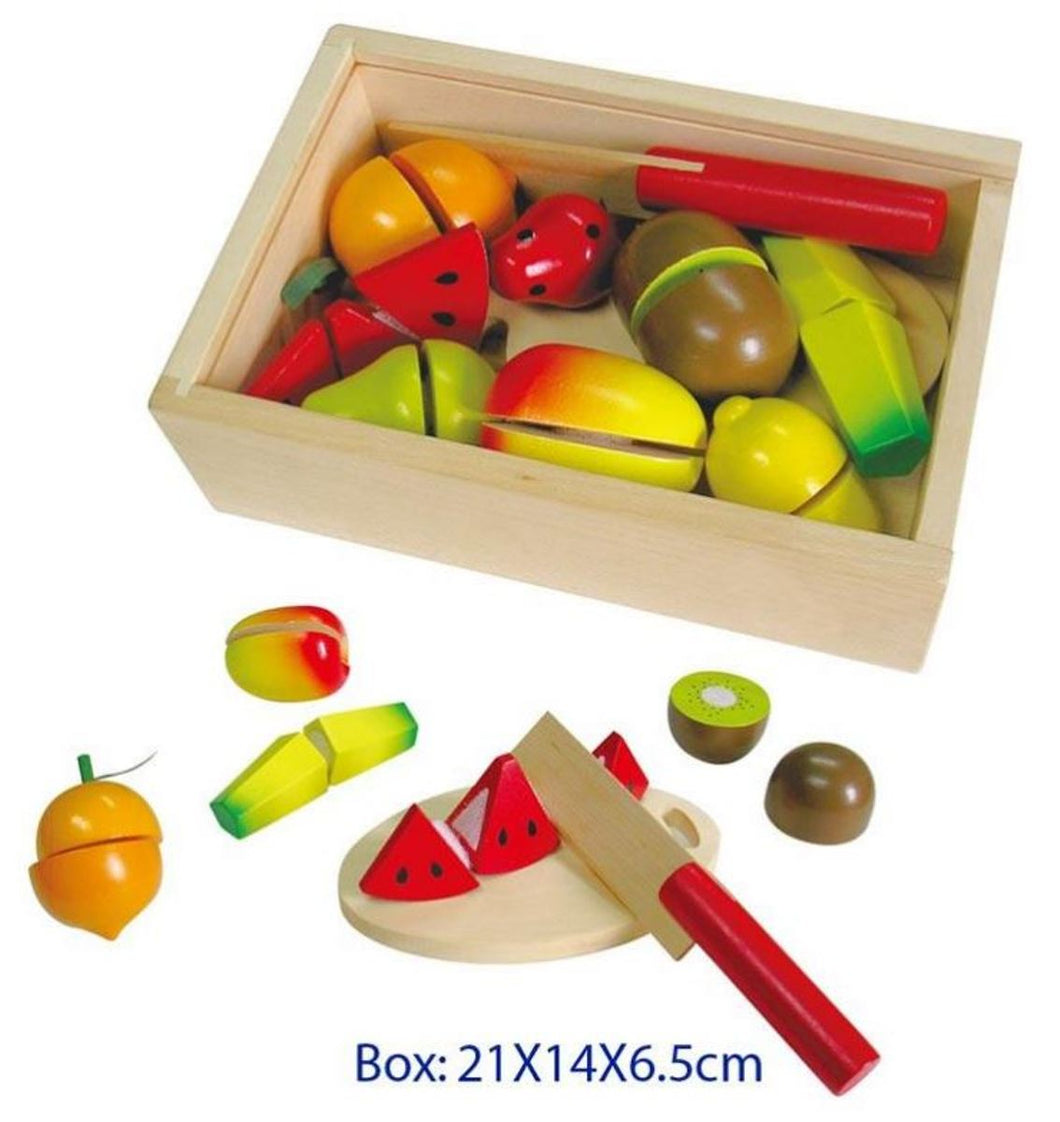 Fun Factory - Wooden Cutting Fruit Box with Lid and Knife
