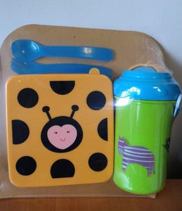 4 Pcs Toddler Lunch Box Set - Ladybug