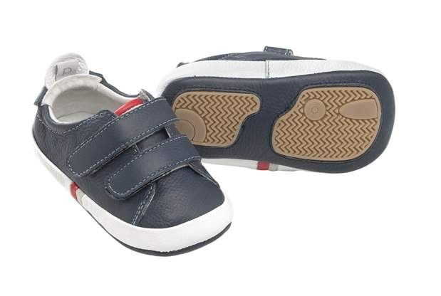 Playette Benji Navy Twin Strap Pre-walker Shoes