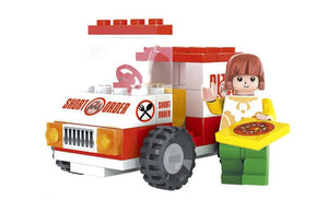 56 Pcs  Ausini City Building Block - Pizza Van (25204)