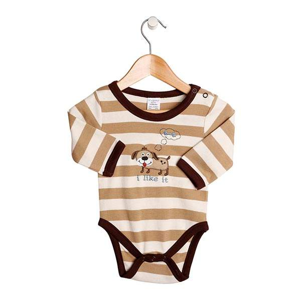 Snugzeez - Romper Long Sleeves Dog Light brown
