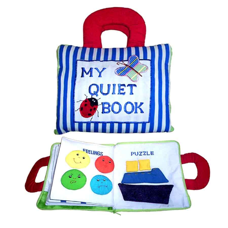 My Quiet Activity Cloth Book - Stripe BLUE