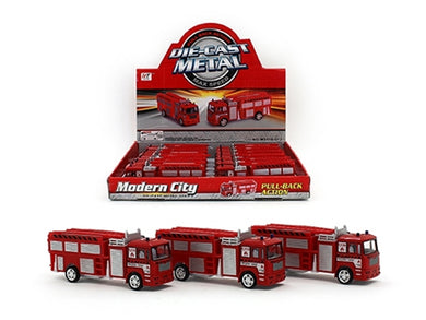 1x Die Cast Pull Back Action - Fire Engine