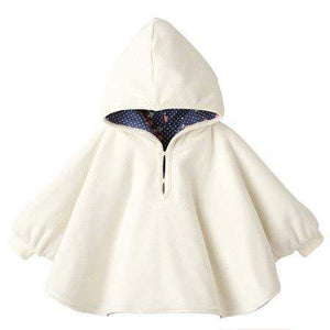 Reversible Winter Hooded Coat with Hood White / Motif Blue