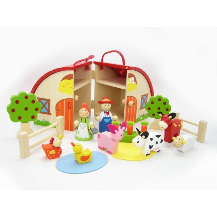 Wooden Farm Barn Play Set