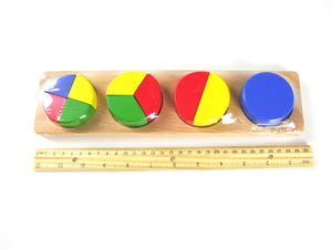Viga - Fraction Wooden Puzzle Blocks