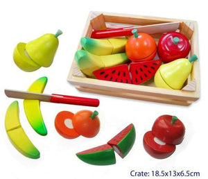 Fun Factory - Wooden Cutting Fruit Crate with Knife