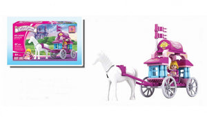57 Pcs Ausini Fairyland Building Block -  Mini Horse & Carriage  (24201)