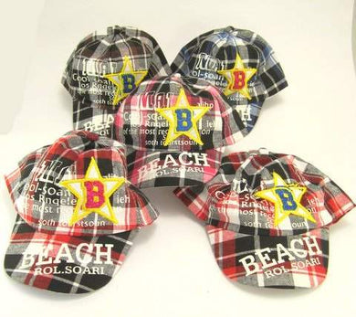Kids B Stars Check Cap