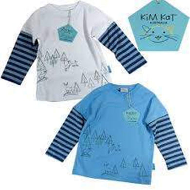 Kim Kat - Boys Long Sleeved Cotton Tee
