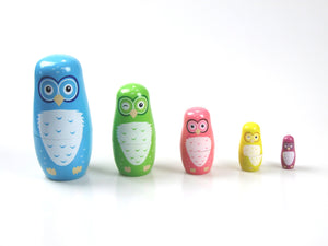 Fun Factory - Wooden OWL Nesting Dolls Set