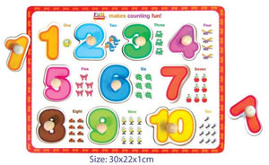 Fun Factory - Wooden Puzzle with Knobs - Numbers
