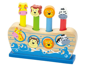 Viga - Wooden Noah's Ark Pop Up Toy