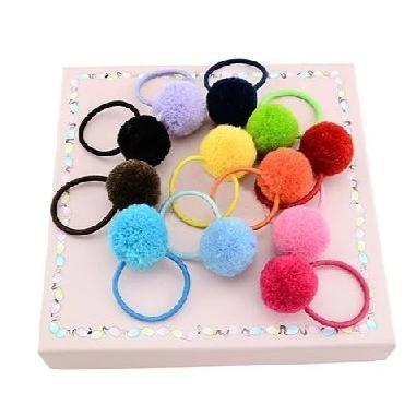 6 / 10 Pcs Pom Pom Hair Ties