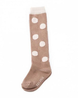 Skeanie Knee-hi Socks Fawn Dots