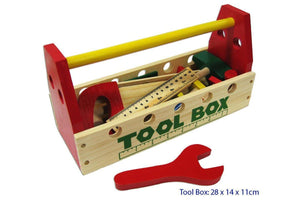 Fun Factory Wooden Tool Box with Tools 21pcs set