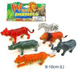 6 Pcs Plastic Animals - WILD