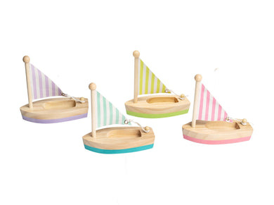 Wooden Toy Sail Boat (small)