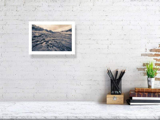 Margadale River and a Scotsman Fine Art Print