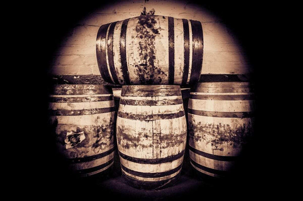 Octave Casks Sepia Toned Fine Art Print by Wandering Spirits Global