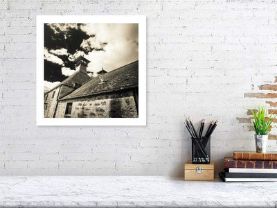 40.7 cm x 40.7 cm, 16.0 inches x 16.0 inches Glen Ord Distillery Pagoda Fine Art Print by Wandering Spirits Global