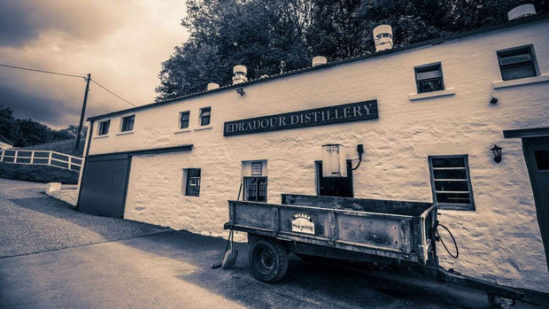 Edradour Distillery Purple Toned Fine Art Print by Wandering Spirits Global