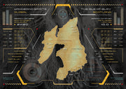Islay Whisky Distilleries Map Heads Up Display by Wandering Spirits Global