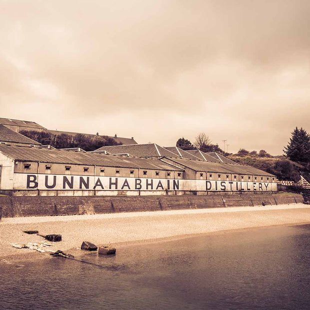 Bunnahabhain Distillery Soft Colour Photo Paper Poster by Wandering Spirits Global