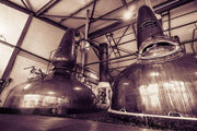 Spirit Stills No 1 and No 2 Laphroaig Distillery Sepia Toned Fine Art Print by Wandering Spirits Global