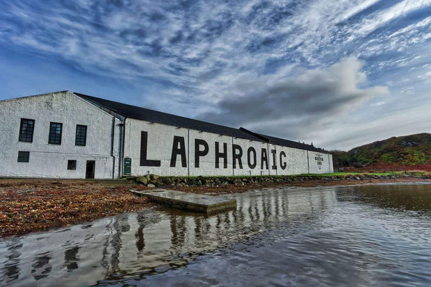 Laphroaig Distillery Islay Full Colour Fine Art Print by Wandering Spirits Global