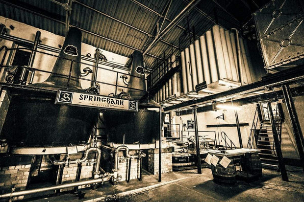 Springbank Distillery Black and White Fine Art Print by Wandering Spirits Global