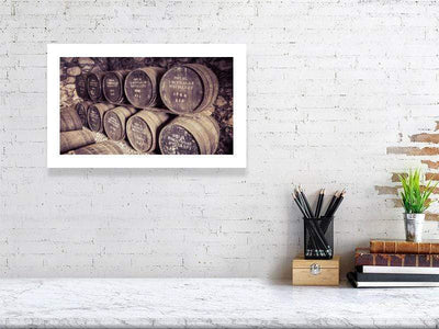 28.9 cm x 46.6 cm, 11.4 inches x 18.4 inches Royal Lochnagar Rare and Special Casks Fine Art Print by Wandering Spirits Global